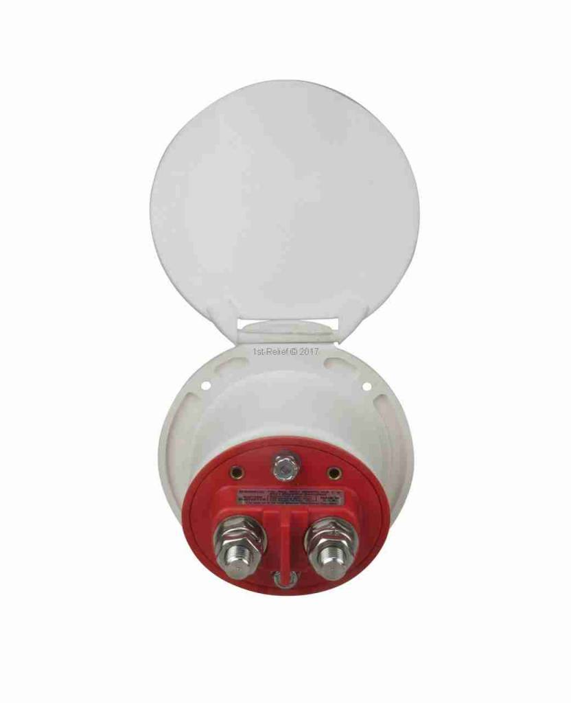 Perko Single Battery Disconnect Switch - Cup Mount, permits the battery to be shut off from the electrical system