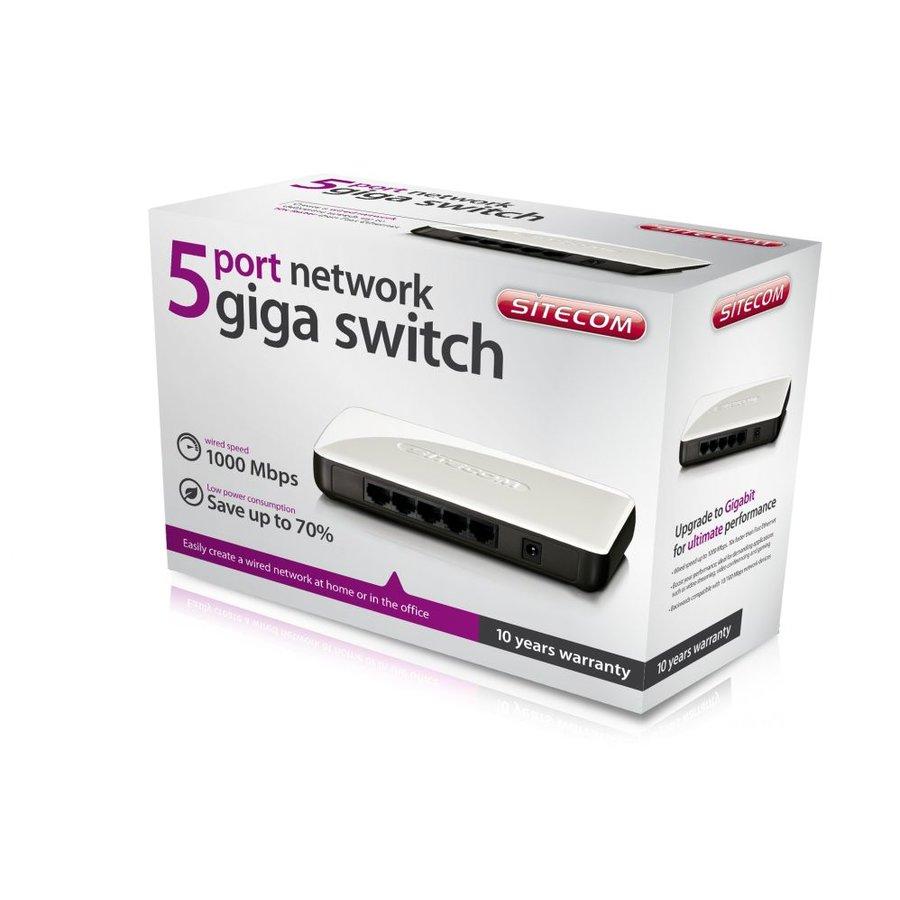 Sitecom 5 port network giga switch