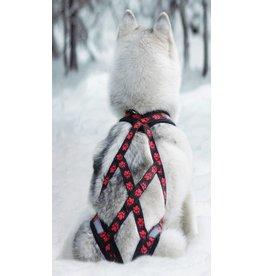 X Back Hunde Zuggeschirr - rote Pfoten