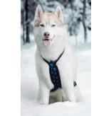 Hunde Zuggeschirr X Back Style für Bike-,Ski-Joring,Scooter,Schlitten, jogging - blaue Pfoten