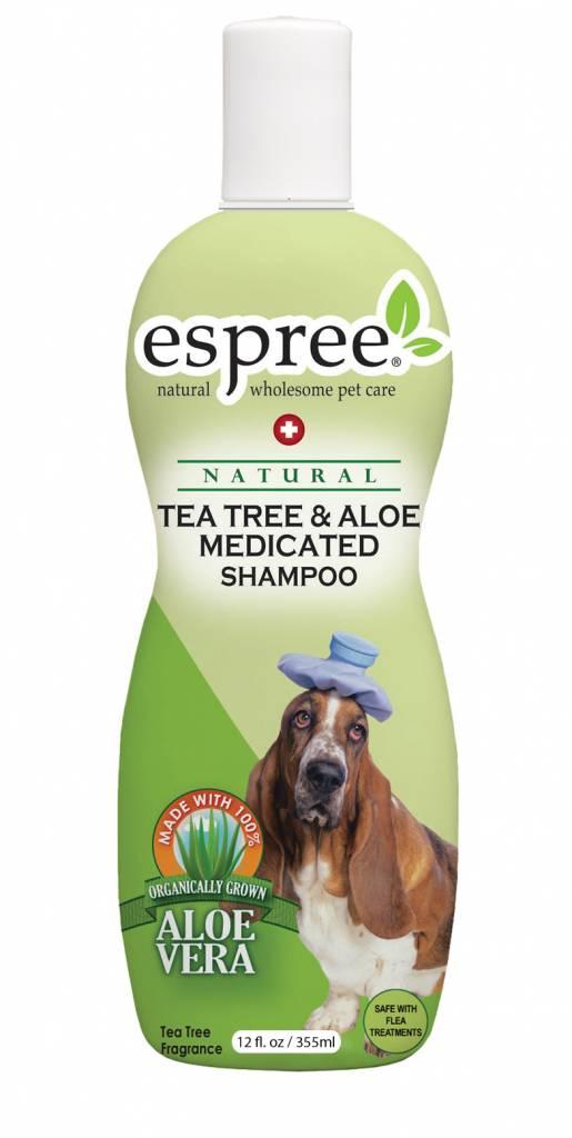 Espree Hundeshampoo gegen Juckreiz Schuppen Dermatitis Pilz beim Hund, Espree Tea Tree & Aloe Shampoo
