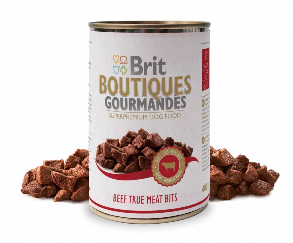 Brit Hundefutter Brit Boutiques Gourmandes Beef True Meat Bits