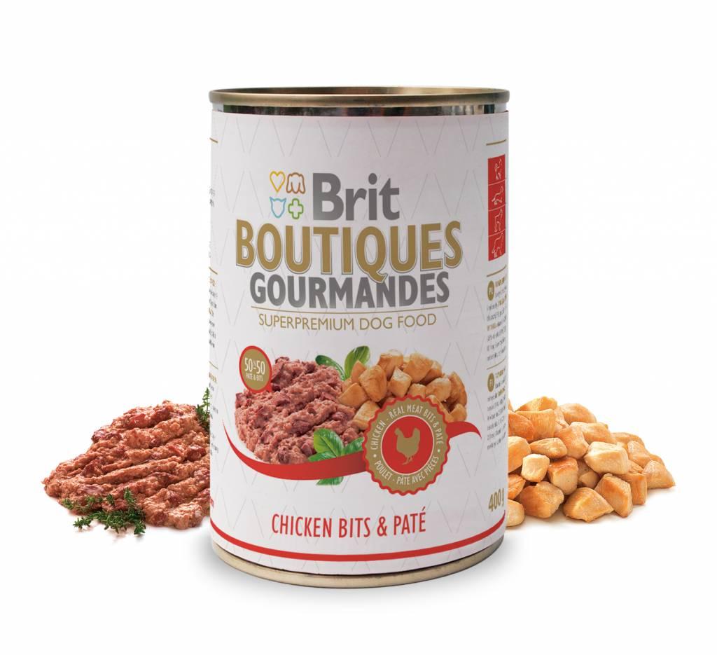 Brit Hundefutter Brit Boutiques Gourmandes Chicken Bits & Pate - 400g - Snacks
