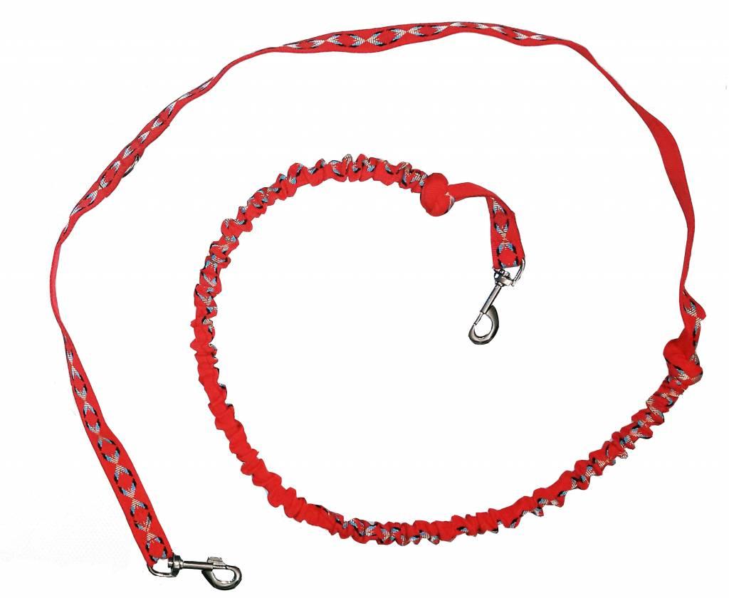 Zugleine mit integr.Ruckdämpfer - Rot