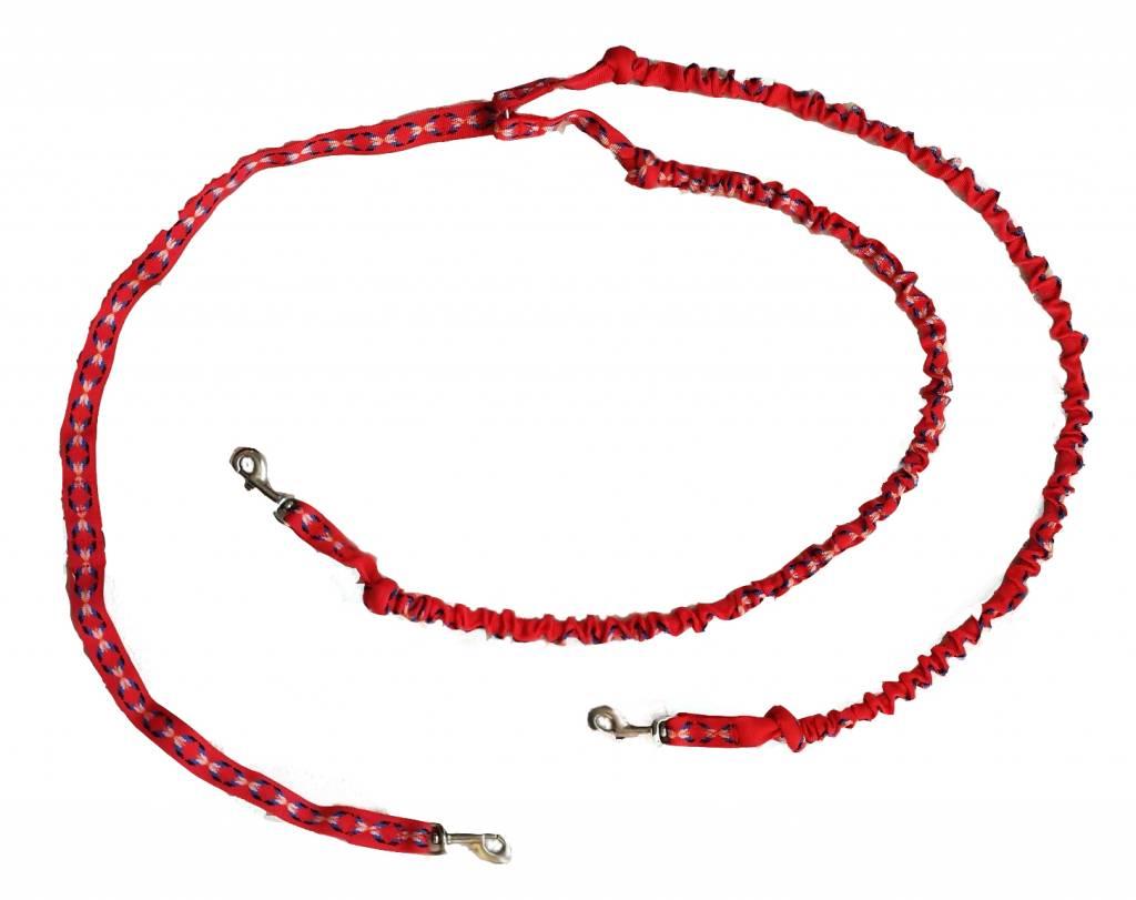 Northern Howl Doppelleine mit integ.Ruckdämpfer - 2 Hunde Rot