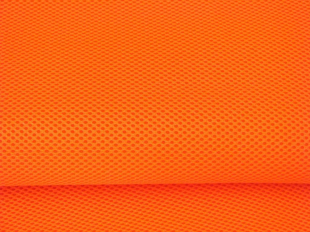 Airmesh Neon Orange 4mm / 1 lfm x 1,60m Breite