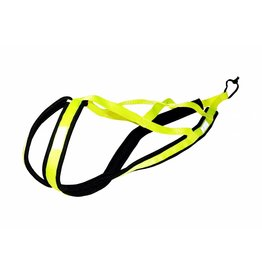 Northern Howl Weight Pulling Dog Harness, X - Back Style - Neon Yellow