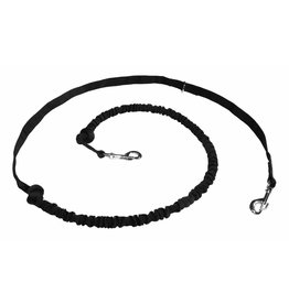 Hands free Dog Leash with integrated Bungee - Black