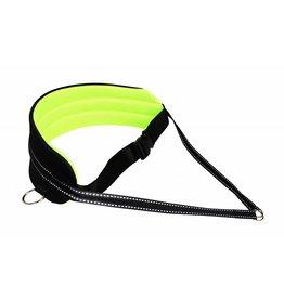 Northern Howl Bauchgurt für Canicross, Dogtrekking, Skijöring - Polsterung in Neon gelb/schwarz