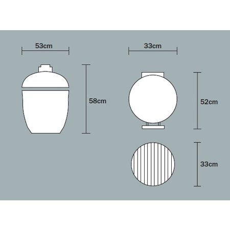 Monolith-Grills Monolith Junior ( 33 cm grill ) met verrijdbaar onderstel