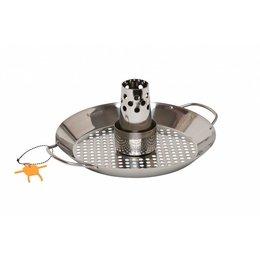 Monolith-Grills BBQ Kippenhouder met gaarschaal