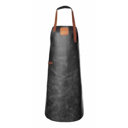 Witloft Black/Cognac Leren Schort L