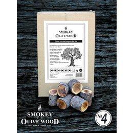 Smokey Olive Wood Rookhout Steeneik grof, 1,5, KG Chunks