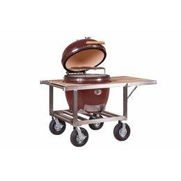 Monolith-Grills Monolith Le Chef 57 cm grill - Rood met tafel