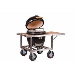Monolith-Grills Le Chef 57 cm grill - Zwart met tafel