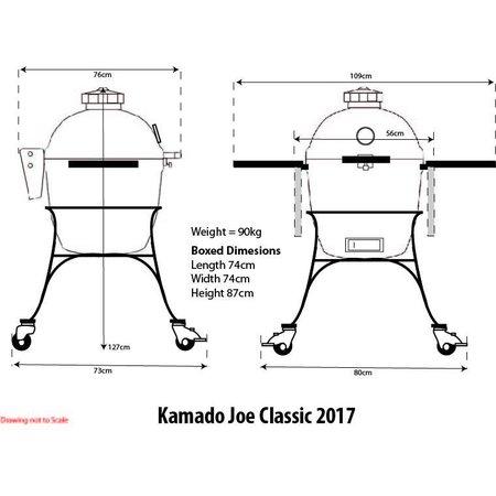 Kamado Joe Kamado Joe Classic II met onderstel en tafels