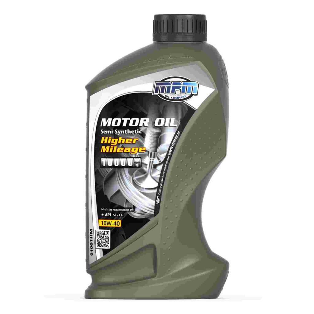 Mpm oil motorolie 10w 40 semi synthetisch higher mileage for Types of motor oil weight