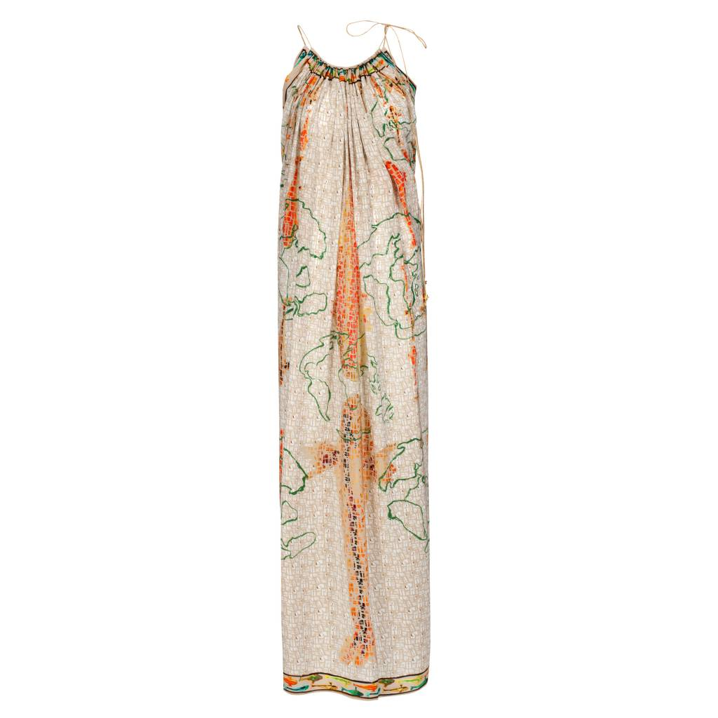 Maxi dress in silk