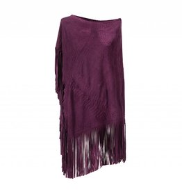 Suede Poncho Deep Purple