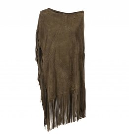 Suede Poncho Olive