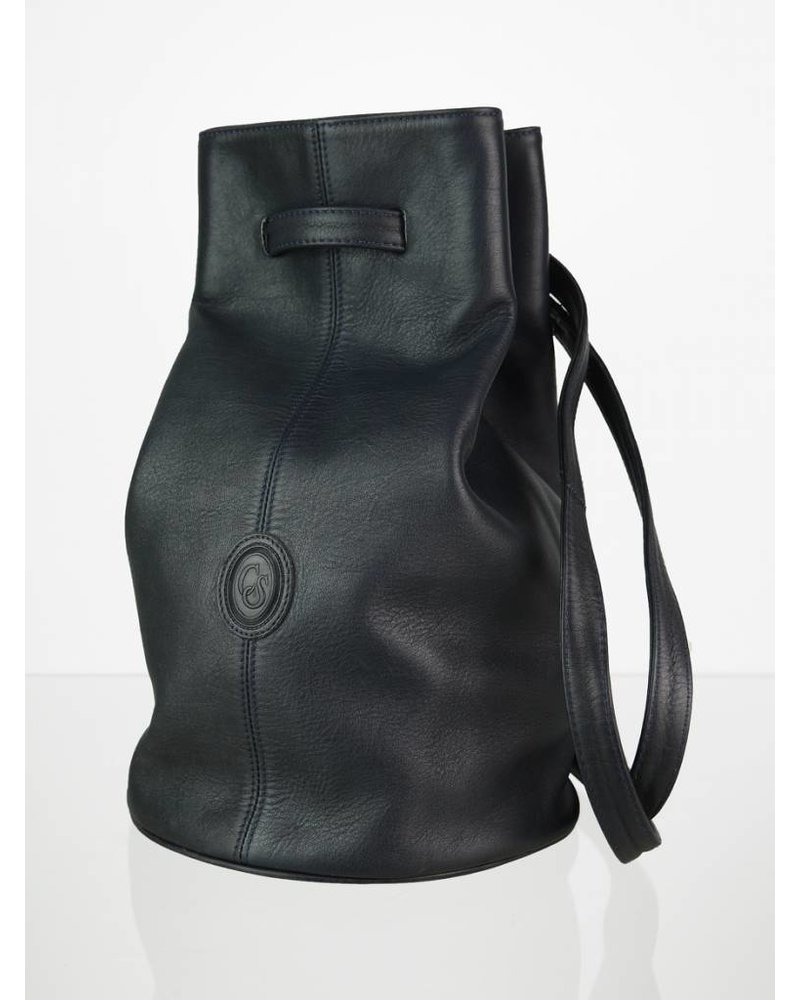 66d0399b77 Vintage Carla Sade Leder Beuteltasche Bucket Bag - Velvet Vintage
