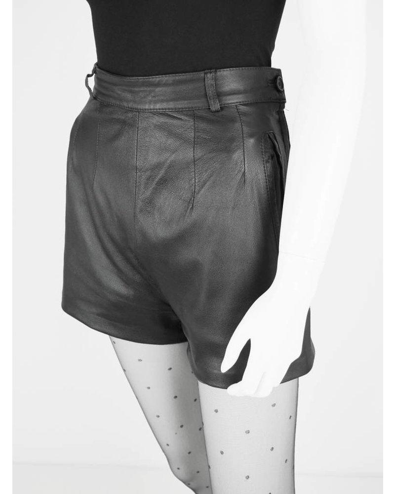 Famous Velvet Vintage Leder-Shorts - Velvet Vintage UX29