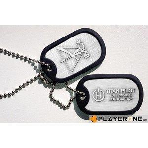 Merchandising TITAN FALL - Dogtag Combat Certified Pilot