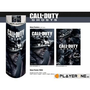 Merchandising COD GHOST - Display 56 Posters (61X91) : 28 X Cover 28 X Profiles