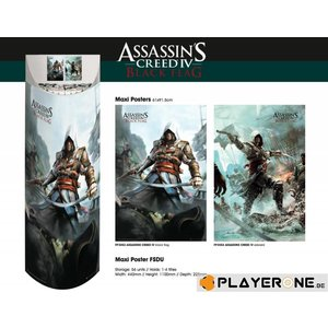 Merchandising ASSASSIN CREED 4 - Display 56 Posters (61X91) : 28 X B.Flag 28 X Edw.