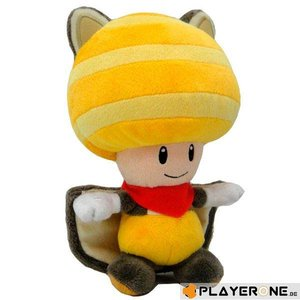 Merchandising NINTENDO - SUPER MARIO - Plush Toad Flying Squirrel Yellow 20 Cm