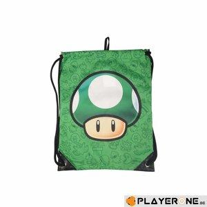 Merchandising NINTENDO - Super Mario Bros - Gym Bag - Mushroom Green