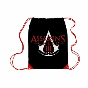 Merchandising ASSASSIN'S CREED 3 - Gym Bag Logo Drawstring Red and Black