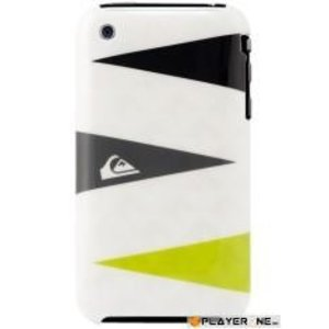 Mobiles QUIKSILVER - Hard Case Iphone 3G/3GS : Graphic White Triple Layers