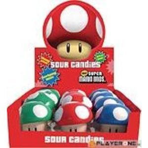 Merchandising NINTENDO (Candy) - Super Mario Bros - Mushroom Sours (Boite de 12)