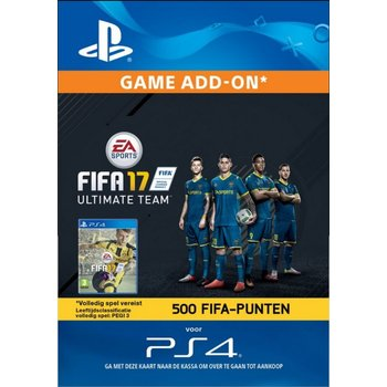 PS4 FIFA 17 Ultimate Team 500 Points (BE)