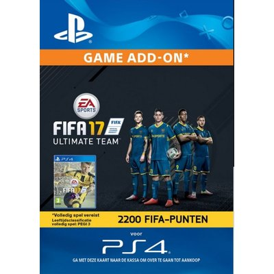 PS4 FIFA 17 Ultimate Team 2200 Points (BE)
