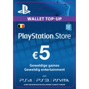 PS4 PlayStation Network - 5 Euro (BE)