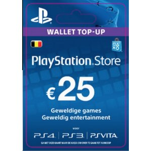 PS4 PlayStation Network - 25 Euro (BE)