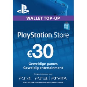 PS4 PlayStation Network - 30 Euro (BE)