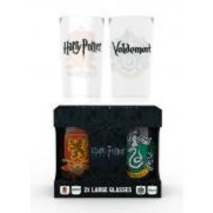 Merchandising HARRY POTTER - Twin Large Glasses 500ml - Crest