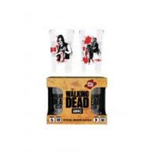 Merchandising WALKING DEAD - Twin Medium Glasses 275ml - Daryl vs Walker
