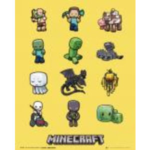 Merchandising MINECRAFT - Mini Poster 40X50 - Characters