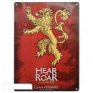 Merchandising GAME OF THRONES - Metal Plate 28 X 38 - Lannister