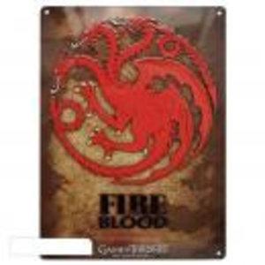 Merchandising GAME OF THRONES - Metal Plate 28 X 38 - Targaryen
