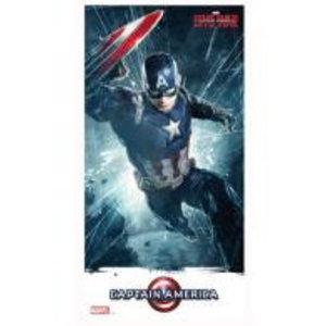 Merchandising MARVEL CIVIL WAR - GLASS POSTER - Captain America - 30X60 cm