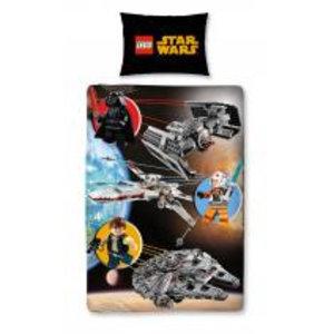 Merchandising STAR WARS - Bed cover 140X200 - Lego Star Wars (100% Cotton)