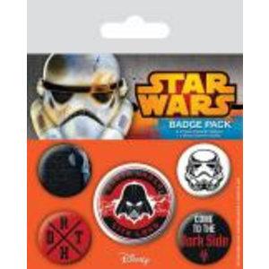 Merchandising STAR WARS - Pack 5 Badges - Dark Side