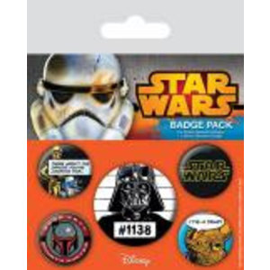 Merchandising STAR WARS - Pack 5 Badges - Cult
