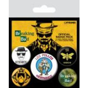 Merchandising BREAKING BAD - Pack 5 Badges - Los Pollos Hermanos