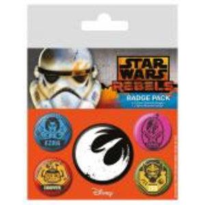 Merchandising STAR WARS - Pack 5 Badges - Rebels
